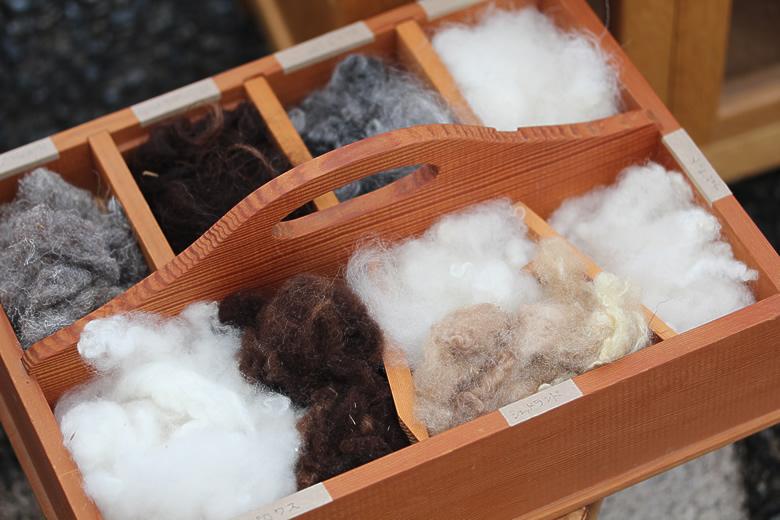 羊の種類が変われば糸も変わる
