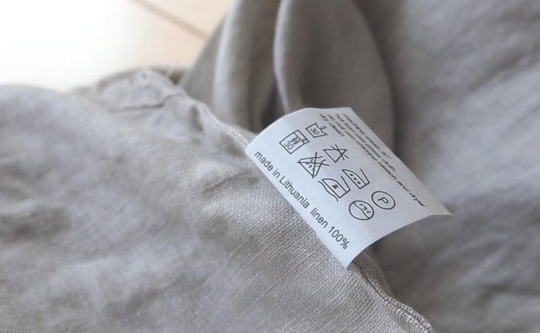 麻、リネン100%の洋服の洗濯表示